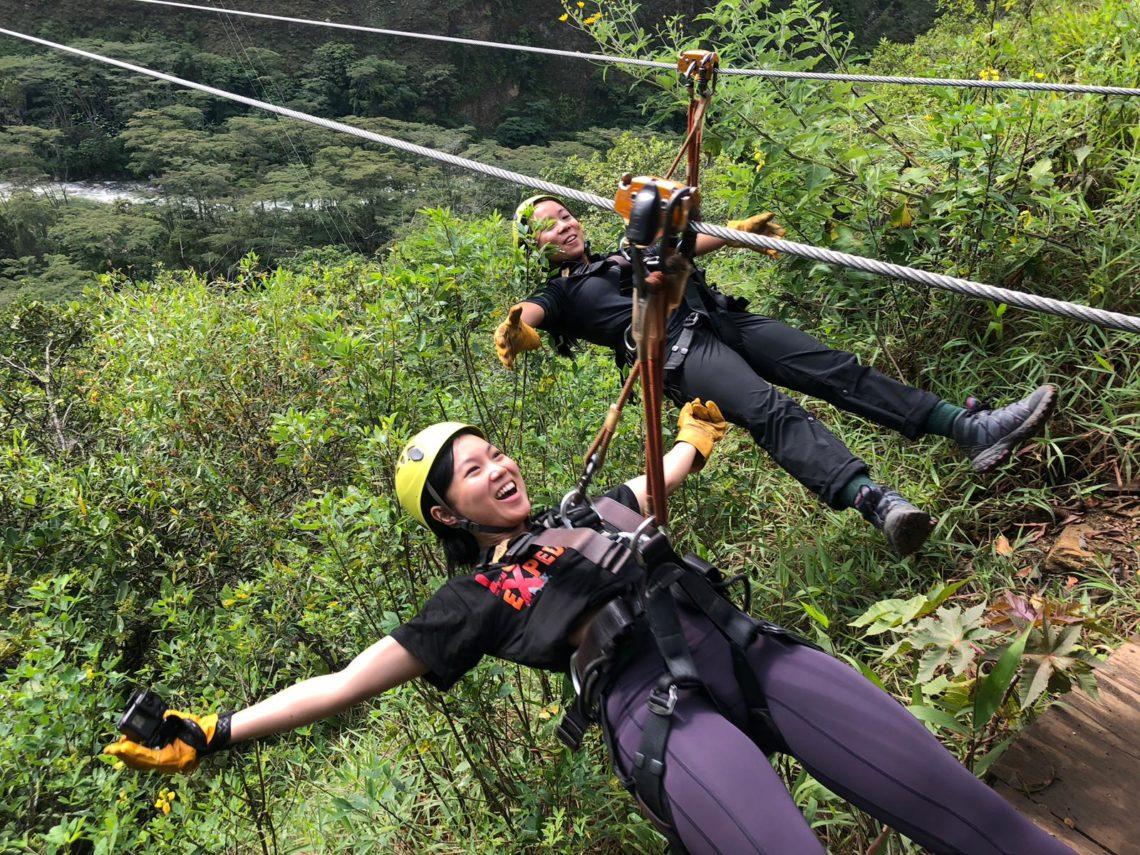 Zip Line In Inca Jungle Trek
