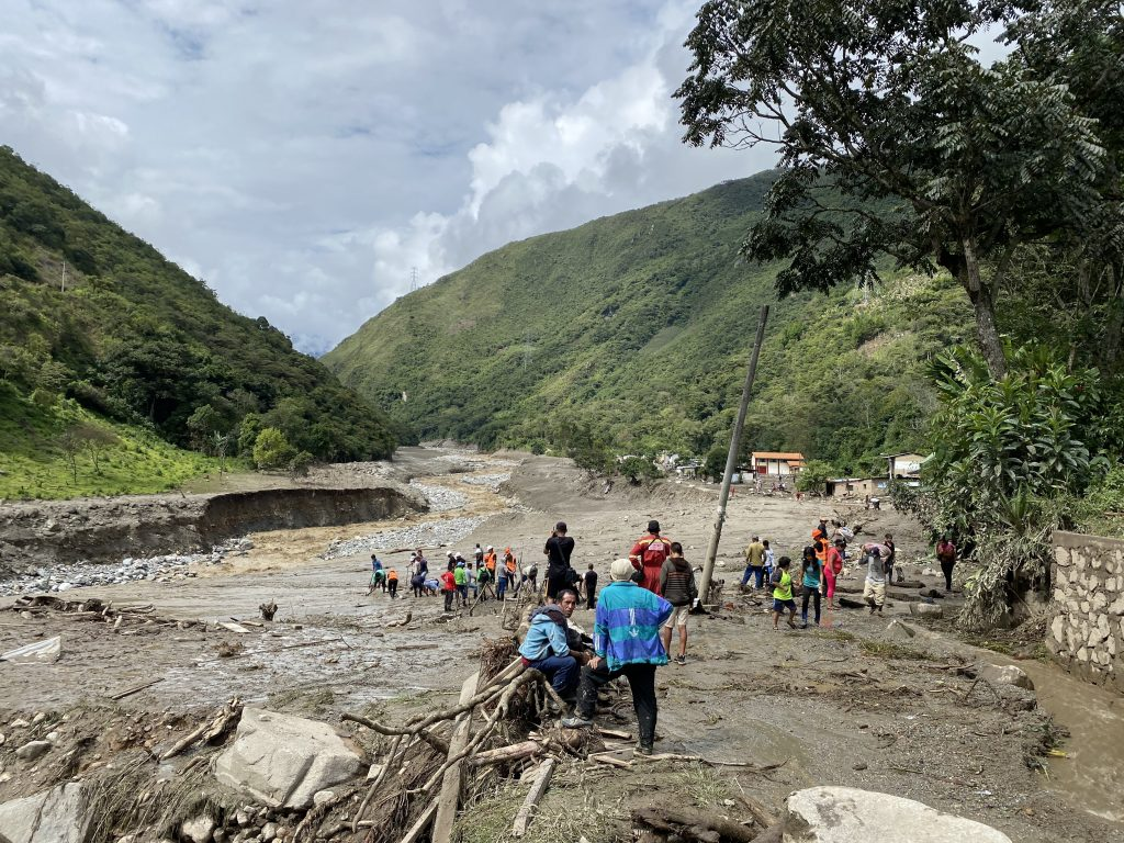MUDSLIDE ON THE SALKANTAY TREK 2020 IN PERU